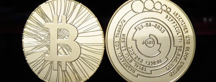 physical bitcoin front and back side